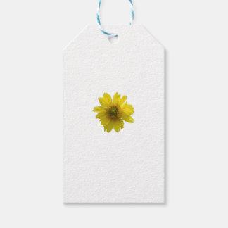 Gelbe Blume Geschenkanhänger