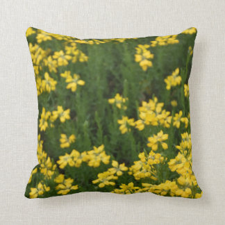 Gelbe Blumen Kissen