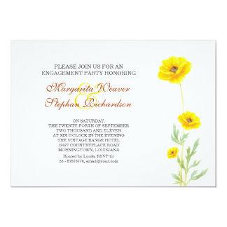 gelbe Blumen-Verlobungs-Party Einladungen