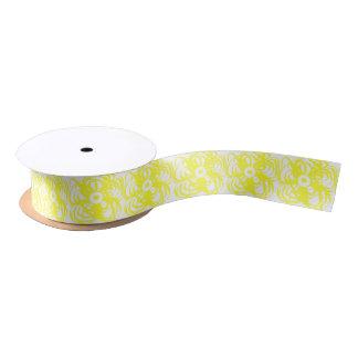 Gelbe Blumenband-Gewohnheit Satinband