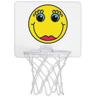 Gelbe Dame Smiley Mini Basketball Netz