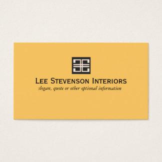 Gelbe elegante geometrische Innenarchitektur Visitenkarten