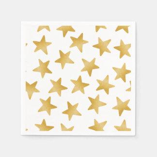 Gelbe Farbsteigung spielt nahtloses Muster die Papierserviette