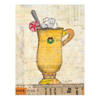 Gelbe Feiertags-Schale Postkarte