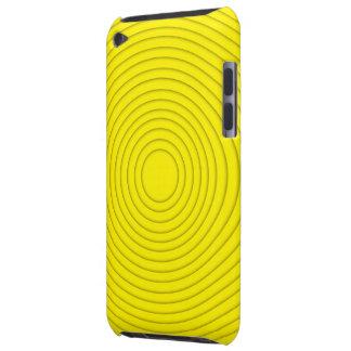 gelbe gewundene Illusionsipod-Touch iPod Case-Mate Hülle