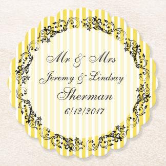 Gelbe Hochzeits-personalisierter