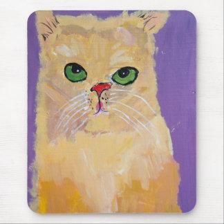 Gelbe Ingwer-Katze Mousepad