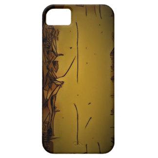gelbe Kastenlinie einzigartiges starkes iPhone 5 Cover