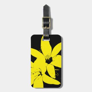Gelbe Lilly Blumen Kofferanhänger