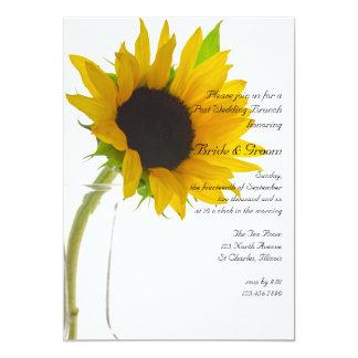 Gelbe Sonnenblume auf weißem 12,7 X 17,8 Cm Einladungskarte