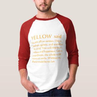 GELBE Sonnenblume-Gedanken T-Shirt