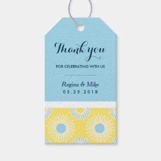 Gelbe Sonnenblume-Muster-Geschenk-Umbauten für Geschenkanhänger