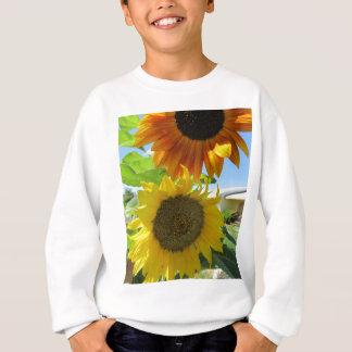 gelbe Sonnenblume und rote Sonnenblume Sweatshirt