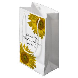 Gelbe Sonnenblumen danken Ihnen Hochzeit Kleine Geschenktüte