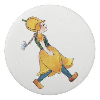 Gelbe Tulpe-Vintages niedliches Radiergummis 0