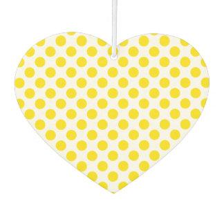 Gelbe Tupfen Autolufterfrischer