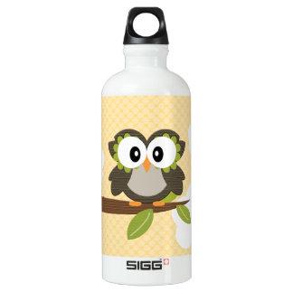 Gelbe Tupfen-Eule BPA geben frei Aluminiumwasserflaschen