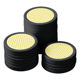 Gelbe Tupfen Poker Chips Sets