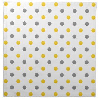 Gelbe und graue Tupfen Serviette
