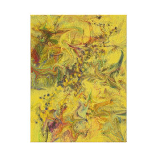 Gelbe zeitgenössische abstrakte Malerei Digital Leinwanddruck