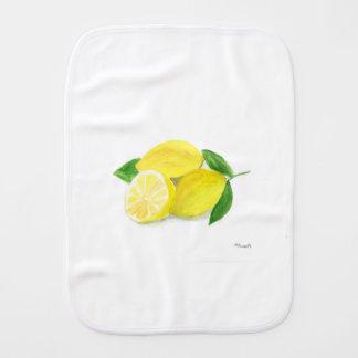 Gelbe Zitronendruckkunst-Frucht-Wasserfarbe Baby Spucktuch