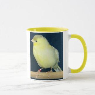 Gelbe zitronengelbe Tasse