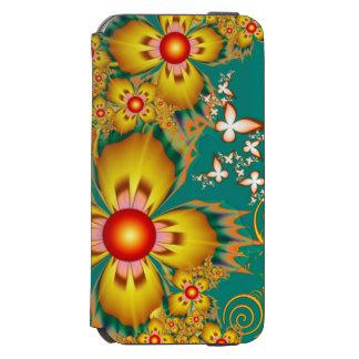 Gelber Blumen-Kasten Incipio Watson™ iPhone 6 Geldbörsen Hülle