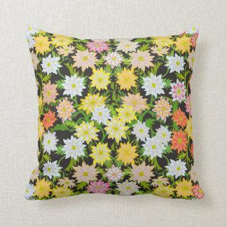 Gelber englischer Garten-Blumenkissen Zierkissen