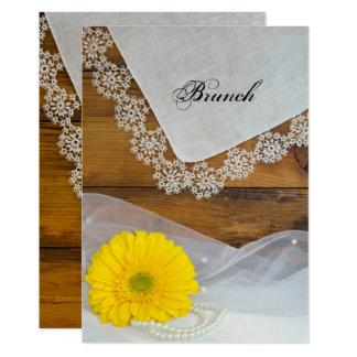 Gelber Gänseblümchen-und 12,7 X 17,8 Cm Einladungskarte