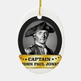 gelber Kapitän Jones Ovales Keramik Ornament