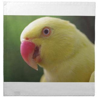 Gelber Papagei Stoffserviette
