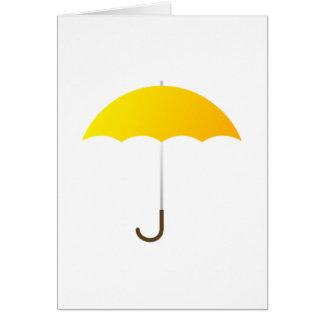 Gelber Regenschirm Karte