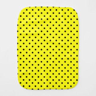 Gelber schwarzer Tupfen Baby Spucktuch