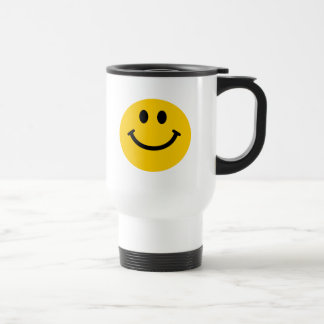 Gelber Smiley Reisebecher