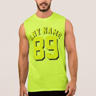 Gelber Sport-Jersey-Entwurf der Erwachsen-| Ärmelloses Shirt