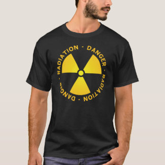 Gelber Strahlungs-Symbol-T - Shirt