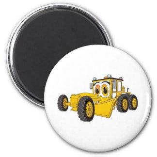 Gelber Straßen-Sortierer-Cartoon Runder Magnet 5,1 Cm