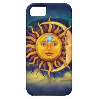 Gelber Sun und Mond Tough iPhone 5 Hülle