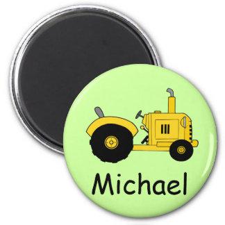 Gelber Traktor Kühlschrankmagnete