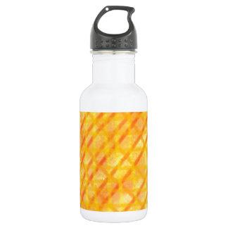 Gelber und orange Kreuzschraffieren-Entwurf Trinkflaschen