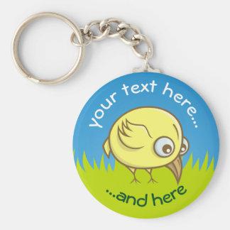Gelber Vogel-Cartoon Schlüsselanhänger