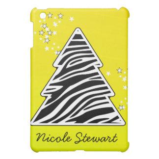 Gelber Zebra-Weihnachtsbaum iPad Mini Hülle