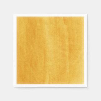 Gelbes Aquarell-modernes gemalt beunruhigt Papierserviette