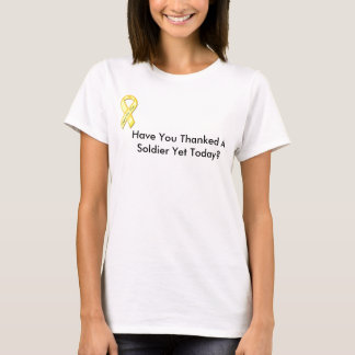 gelbes Band, haben Sie gedankt einem Soldaten T-Shirt