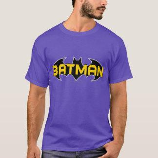 Gelbes Batman-Symbol-| u. schwarzes Namenslogo T-Shirt