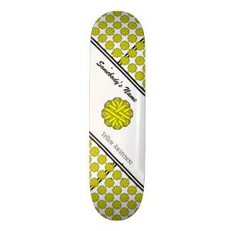 Gelbes Blumen-Band durch Kenneth Yoncich Personalisiertes Skateboarddeck