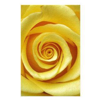 Gelbes Blumen Briefpapier
