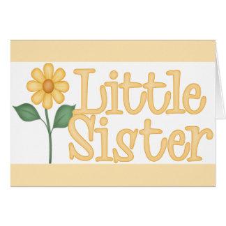 Gelbes Gänseblümchen-kleine Schwester Karte