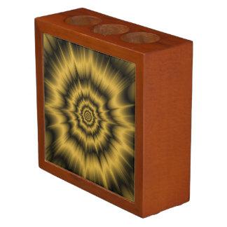 Gelbes Goldexplosions-Schreibtisch-Organisator Stifthalter
