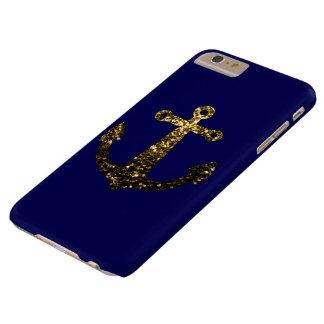 Gelbes GoldGlitzern verankern iPhone 6 Pluskasten Barely There iPhone 6 Plus Hülle